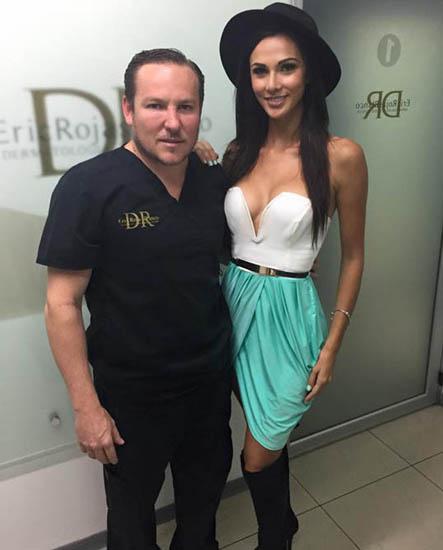 LA MISS COSTA RICA KARINA RAMOS CUIDA SU ROSTRO con el  DR ERIC ROJAS