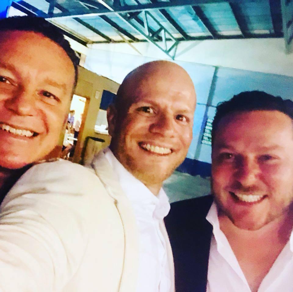 Con el mejor florista de Costa Rica Mauricio Chacón y el mejor actor de nuestro país Gustavo Rojas